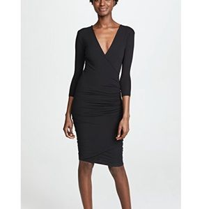James Perse | Skinny Wrap Tuck Dress